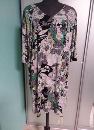 Удлиненная футболка (туника, короткое платье) большого  20 размера