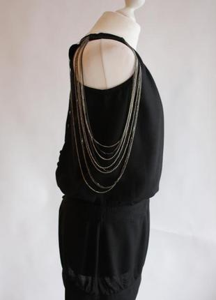 Платье с декором из цепей на плечах pull&bear размер s/36/8.
