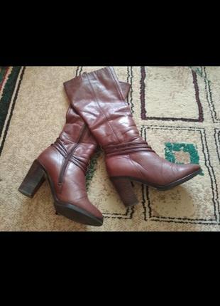 Сапоги/ ботинки, кожа цегейка, еврозима р 35-36