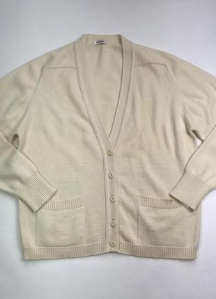 Винтаж! винтажный шерстяной кардиган цвета айвори размер m-l.