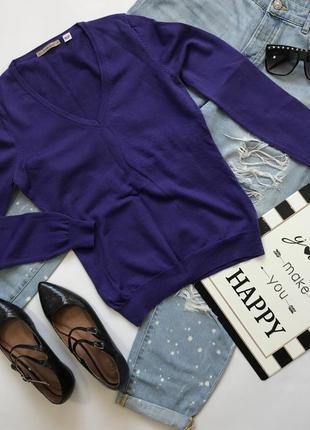 100% шерсть! шерстяной тонкий базовый пуловер свитер uniqlo размер s/36/8.