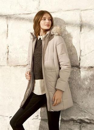 Мягусенькое куртка пальто еврозима р.евро 36 s 38 m esmara германия бежевое