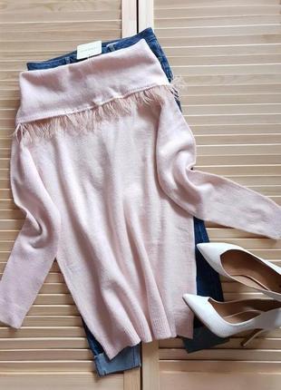 Розовый теплый необычный свитерок....италия