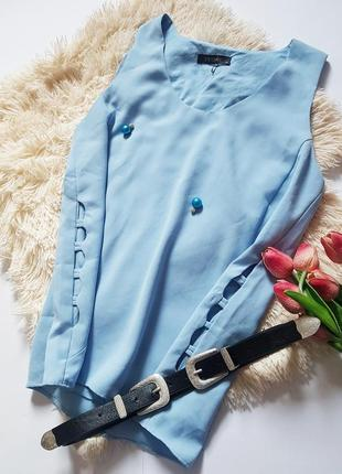 Класична блуза небеснего кольору від superrasi