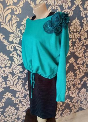 Красивенный костюм набор сарафан накидка джемпер 2 в 1 + подарок