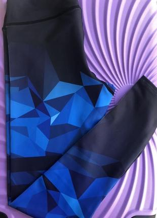Лосины абстракция сине-черные