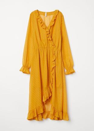 Красивое шифоновое платье h&m,p.xl-xxl