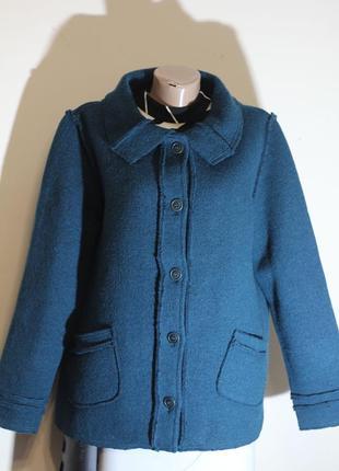 Роскошный пиджак 100% шерсть. италия 52-54