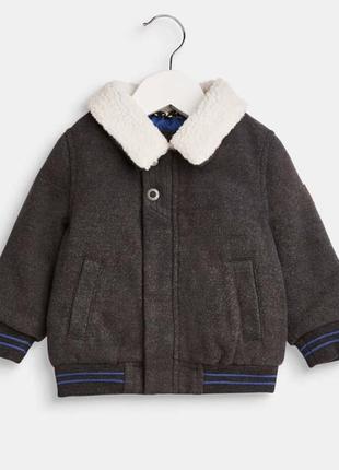 Новая фирменная куртка esprit с меховым воротником для мальчика 80 рр