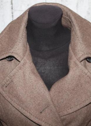 Шерстяное двубортное пальто от h&m l.o.g.g размер 38