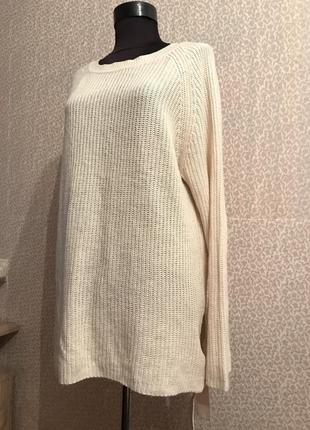 Тёплый свитер оверсайз большого размера с завязками