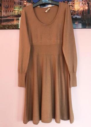 Натуральное теплое платье ангора