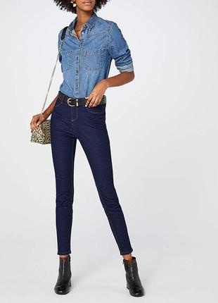 New look tall skinny плотные джинсы скинни высокая талия посадка на высокую девушку