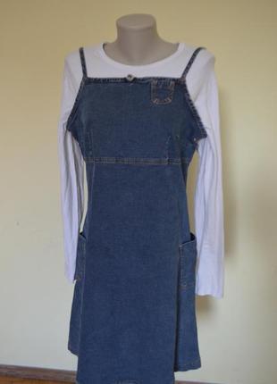 Супер стильный джинсовый брендовый сарафан