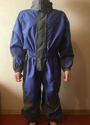 Клеёнчатый комбинезон для мальчика 8-10 лет непромокаемый