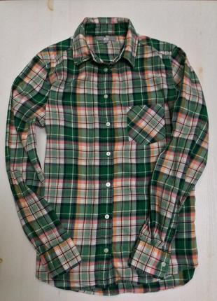 Uniqlo фланелевая рубашка. размер м