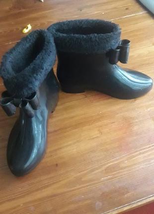 Теплі резинові чобітки.