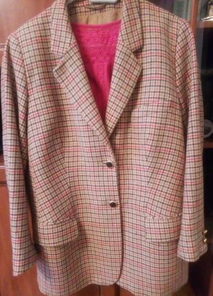 Супер шерстяной пиджак jobis англия
