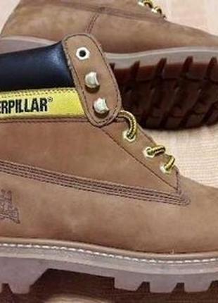 Кожаные фирменные ботинки caterpillar