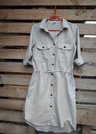Платье- рубашка спортивного стиля