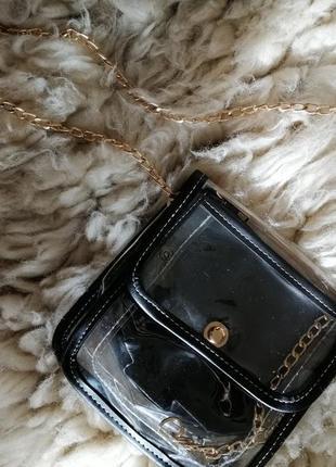 Прозрачная сумка клатч