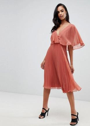 Плисерованное платье asos, размер 18