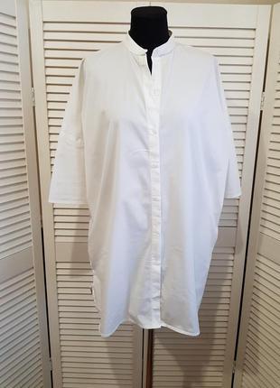 Белое платье рубашка mango
