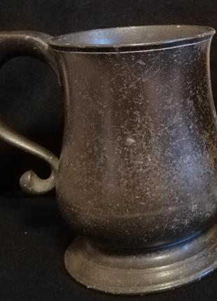 Пивной бокал темный - кружка - винтаж, старина – металл - кружка