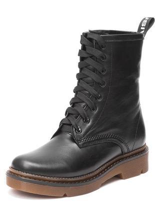 Ботинки на коричневой подошве натуральная кожа зимние