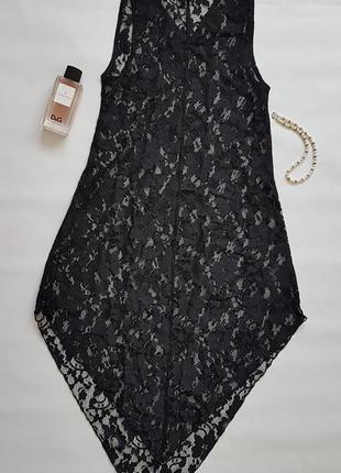 Сексуальное гипюровое, кружевное платье-туника h&m.