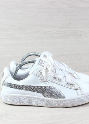 Белые кроссовки puma basket оригинал, размер 34.5