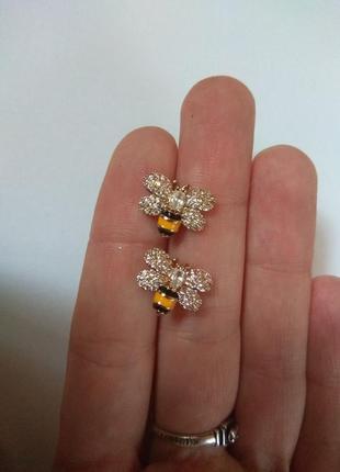 Серьги сережки гвозди гвоздики пчелы пчелки пчёлки медицинский сплав