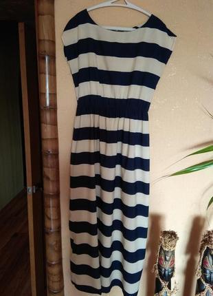 Платье, макси платье в полоску