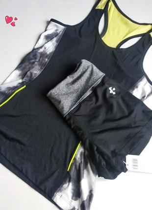 Комплект crivit,костюм спортивный шорты+майка,одежда для фитнеса