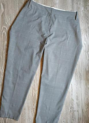 Стильные брюки в клетку большого размера m&s р26