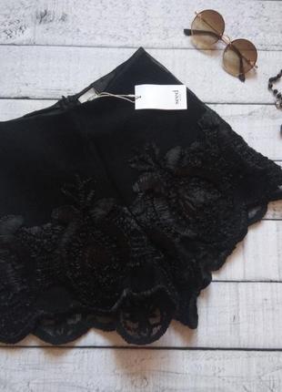 Шикарные шорты с сеткой и кружевом от seed