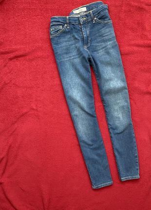 Базовые скинни джинсы высокая посадка