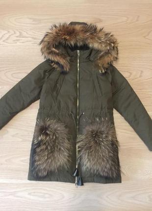 Парка куртка зимняя фенди fendi