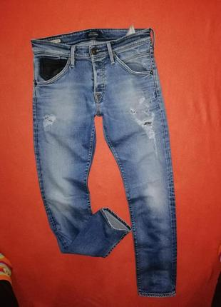 Брендовые мужские джинсы слим jack&jones 32/32 в очень хорошем состоянии