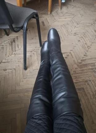 Сапоги кожанные новые, одеты 2 раза, мне великы к сожалению.
