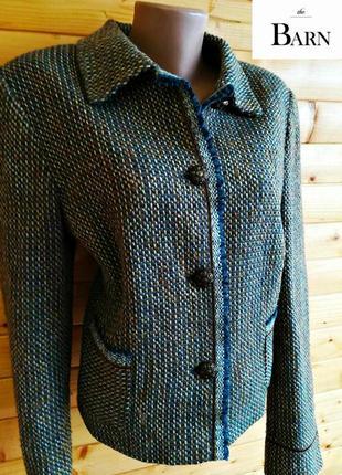 Стильный шерстяной пиджак the barn  из качественного натурального материала.