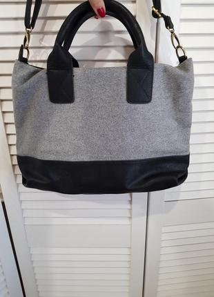 Стильная серая сумка