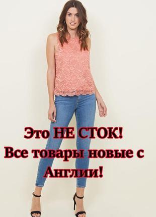 New look. товар из англии. кружевная блуза. на наш размер 46.