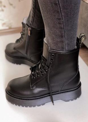 Зимние ботинки dr.martens jadon в полностью черно цвете/осень/зима/весна😍
