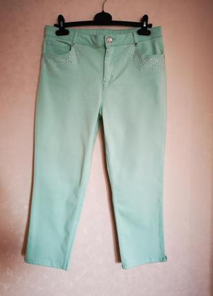 Стрейчевые джинсы кроп per'una crop uk 14 eur 42 наш 48