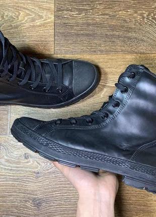 Ботинки all star outsider padded original высокие кожаные черные 45