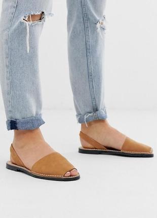 Кожаные женские сандалии, менорки, абаркасы next/ испания/кожа/оригинал