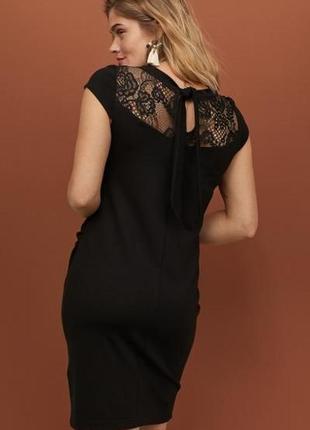 Новое нарядное маленькое черное платье платье h&m для беременных. размер s
