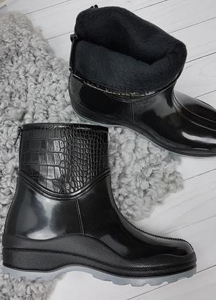 Ботинки полусапоги утепленные флисовым чулком по всей длине