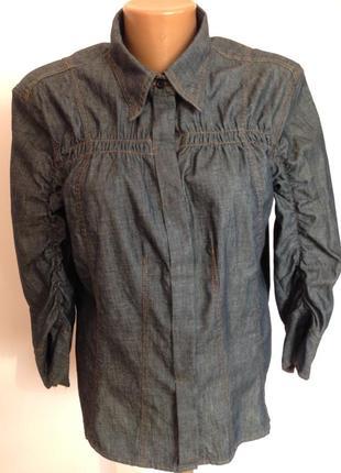 Джинсовая брендовая рубашка- жакет. /xl- xxl/ brend мnarccain. состояние нового